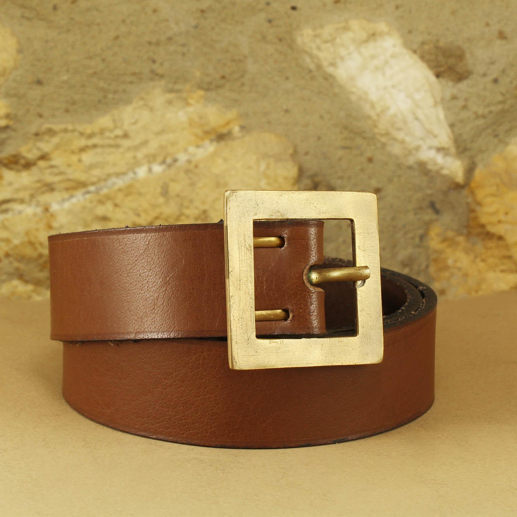 Plain Belt, Square Buckle 4cm
