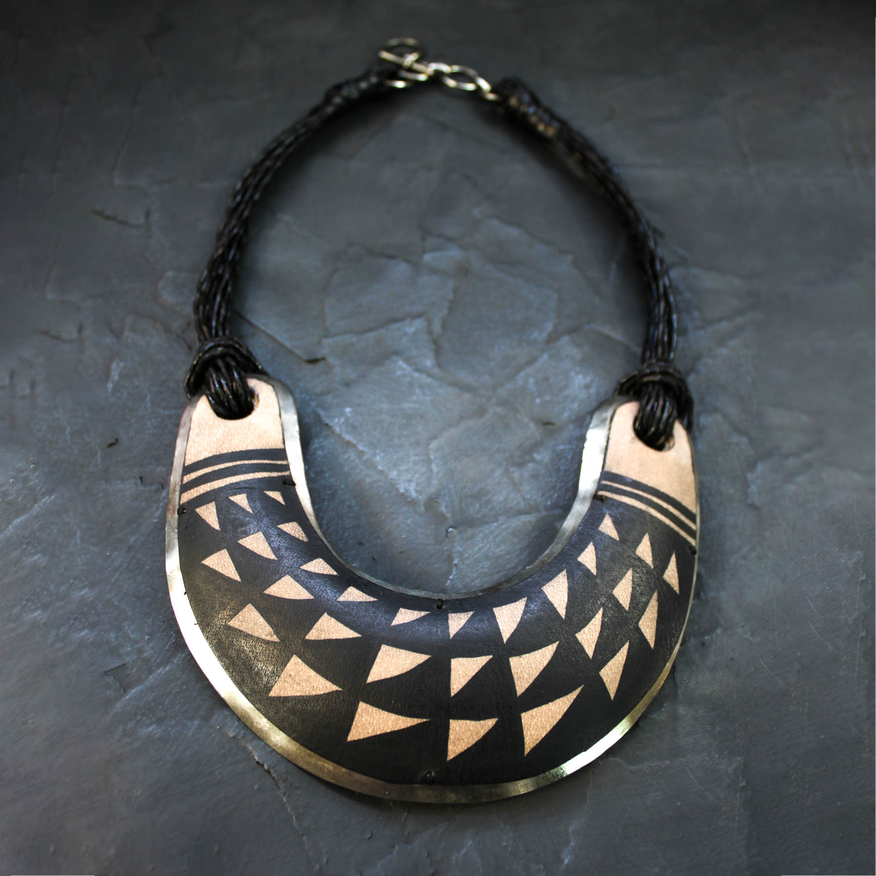 Drawing Leather Necklace