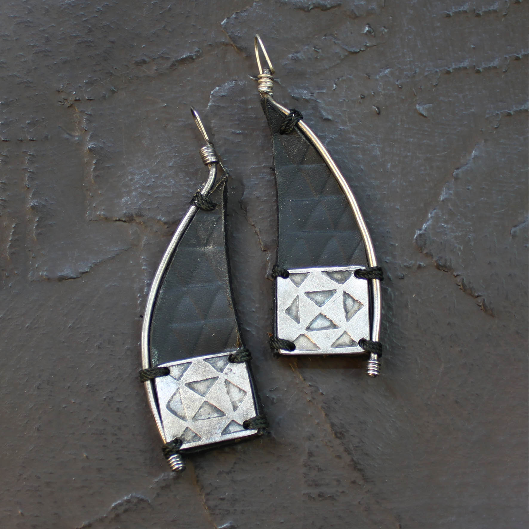 Triangle Rhombus Earring