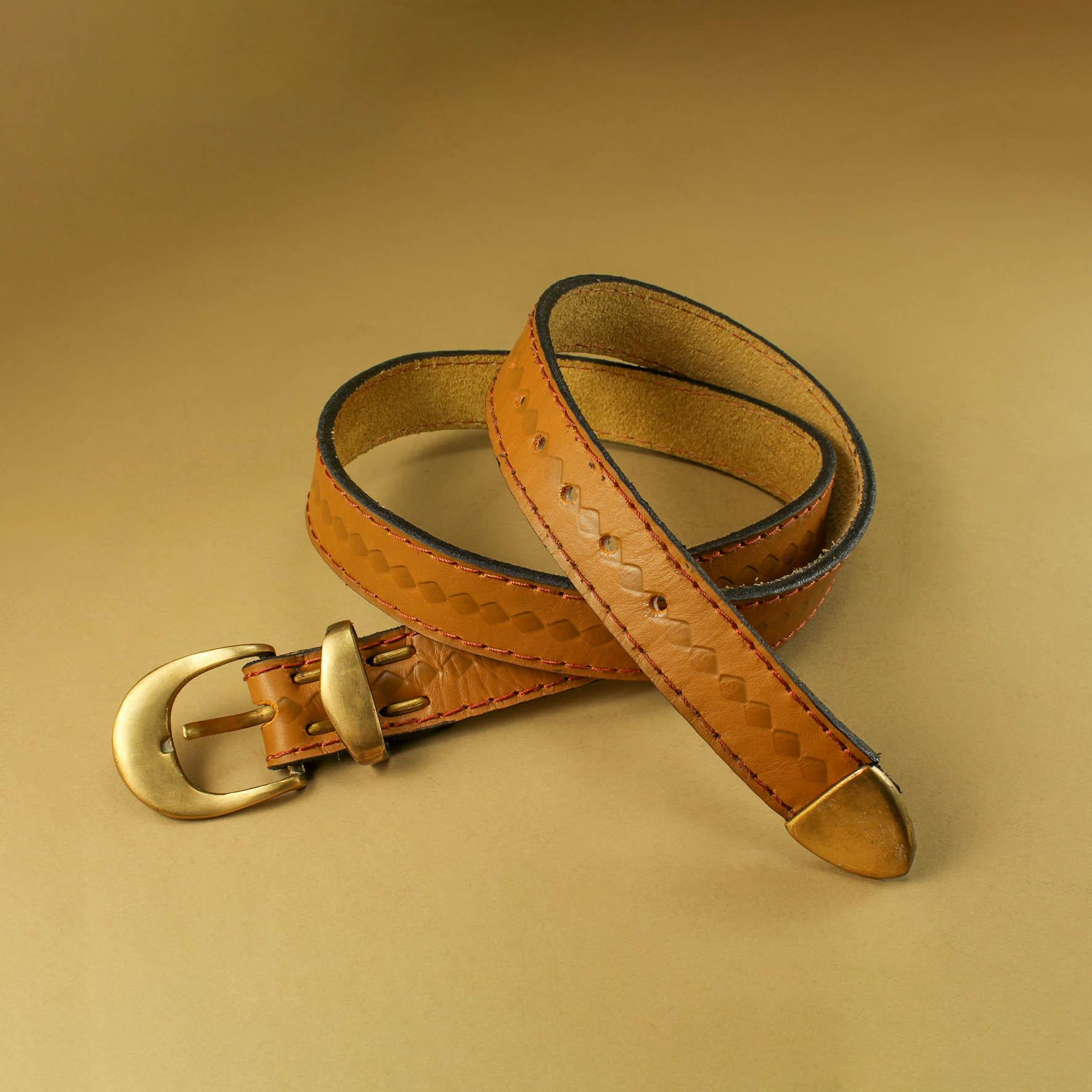 Stamped 3.5cm Belt