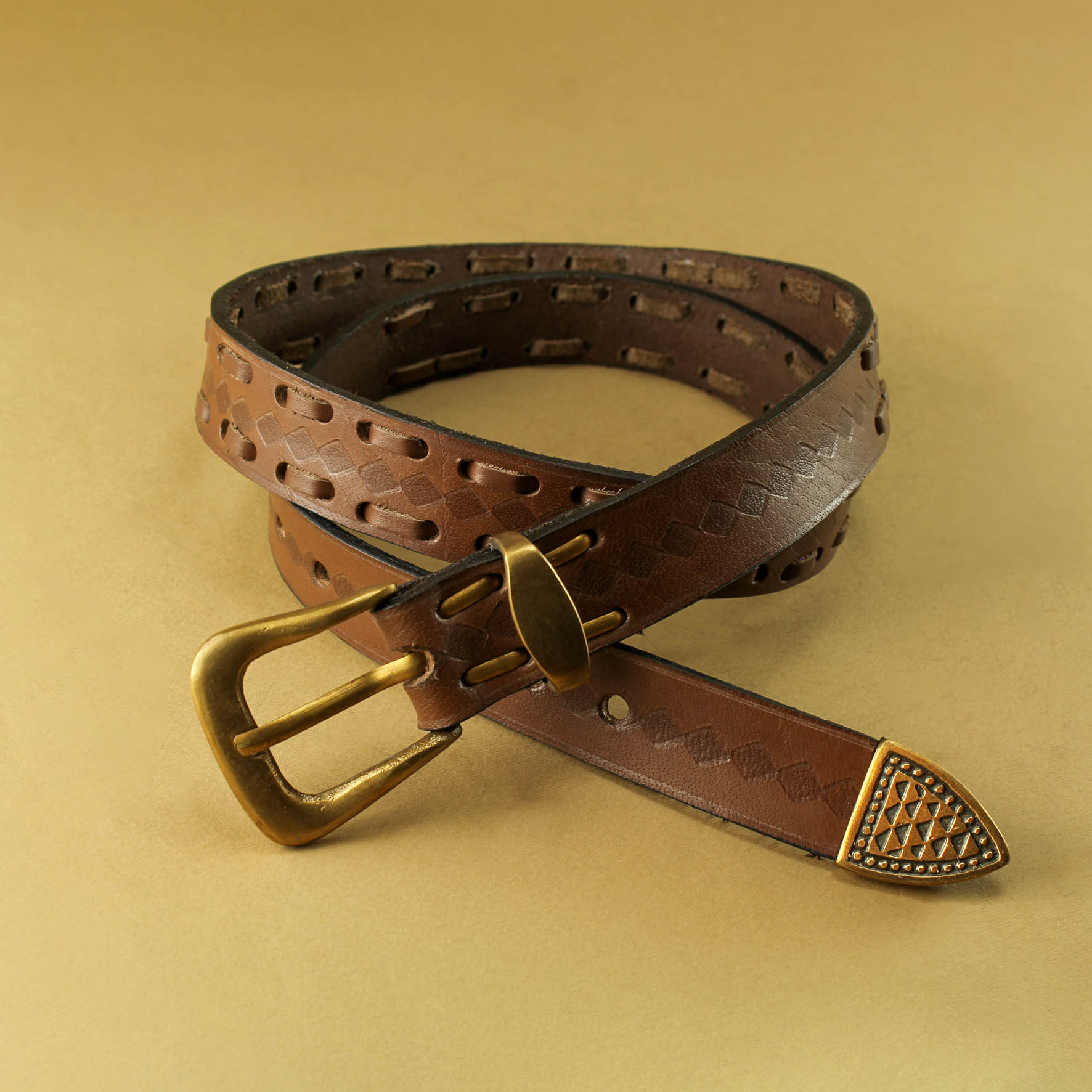 Leather Strap Braiding Belt, 3cm