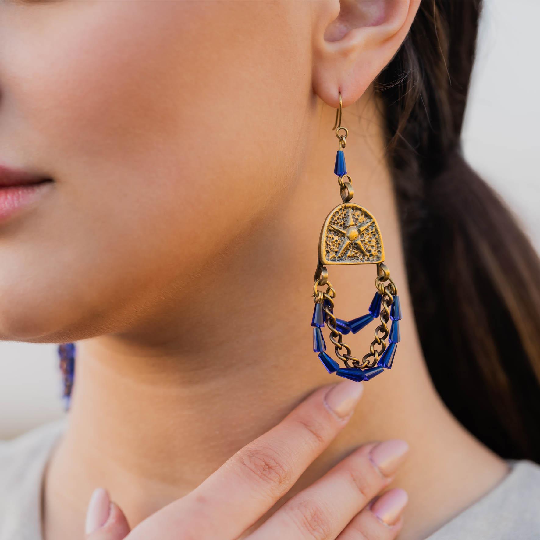 Pharaonic Stars Earrings