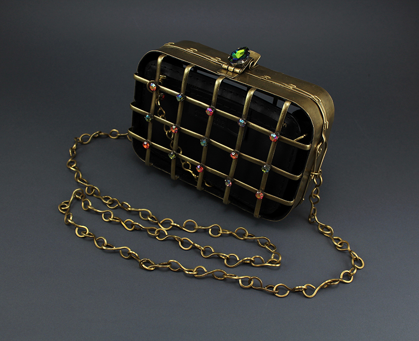 Tartan crystal Bag *(Order Available in Egypt Only)